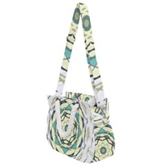Circle Vector Background Abstract Rope Handles Shoulder Strap Bag by HermanTelo
