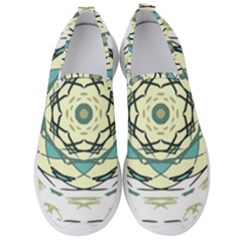 Circle Vector Background Abstract Men s Slip On Sneakers