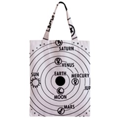 Earth Geocentric Jupiter Mars Zipper Classic Tote Bag