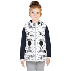 Earth Geocentric Jupiter Mars Kids  Hooded Puffer Vest