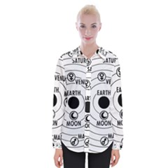 Earth Geocentric Jupiter Mars Womens Long Sleeve Shirt by HermanTelo