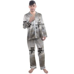Awesome Whale In The Sky Men s Satin Pajamas Long Pants Set