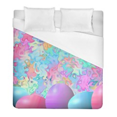 Eggs Happy Easter Rainbow Duvet Cover (full/ Double Size) by HermanTelo