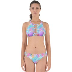 Eggs Happy Easter Rainbow Perfectly Cut Out Bikini Set