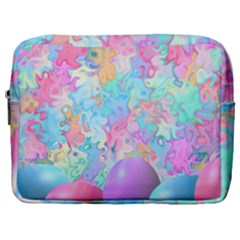 Eggs Happy Easter Rainbow Make Up Pouch (large)