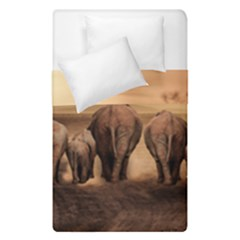 Elephant Dust Road Africa Savannah Duvet Cover Double Side (single Size)
