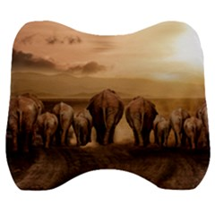 Elephant Dust Road Africa Savannah Velour Head Support Cushion