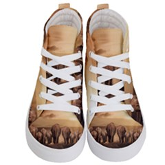 Elephant Dust Road Africa Savannah Kids  Hi Top Skate Sneakers
