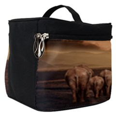 Elephant Dust Road Africa Savannah Make Up Travel Bag (small) by HermanTelo