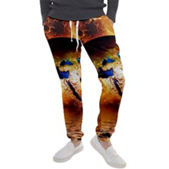 Earth Globe Water Fire Flame Men s Jogger Sweatpants