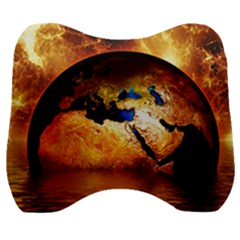 Earth Globe Water Fire Flame Velour Head Support Cushion