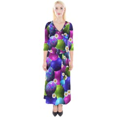Eggs Happy Easter Quarter Sleeve Wrap Maxi Dress by HermanTelo