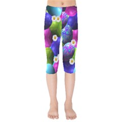 Eggs Happy Easter Kids  Capri Leggings  by HermanTelo
