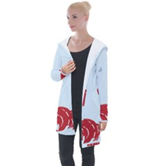 Fish Red Sea Water Swimming Longline Hooded Cardigan by HermanTelo