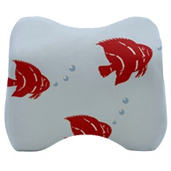Fish Red Sea Water Swimming Velour Head Support Cushion