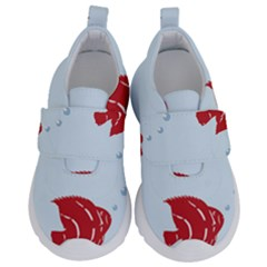 Fish Red Sea Water Swimming Kids  Velcro No Lace Shoes by HermanTelo