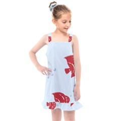 Fish Red Sea Water Swimming Kids  Overall Dress by HermanTelo