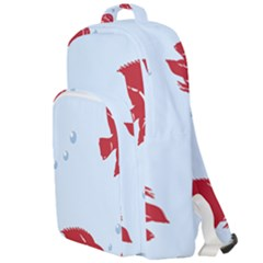 Fish Red Sea Water Swimming Double Compartment Backpack