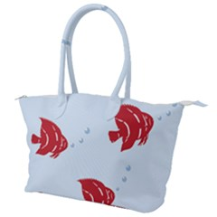 Fish Red Sea Water Swimming Canvas Shoulder Bag