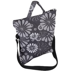 Floral Pattern Fold Over Handle Tote Bag by HermanTelo