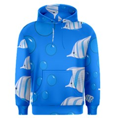 Fish School Bubbles Underwater Sea Men s Pullover Hoodie