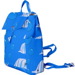 Fish School Bubbles Underwater Sea Buckle Everyday Backpack
