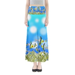 Fish Underwater Sea World Full Length Maxi Skirt by HermanTelo