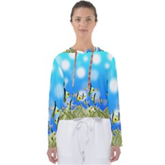 Fish Underwater Sea World Women s Slouchy Sweat