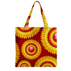 Floral Abstract Background Texture Zipper Grocery Tote Bag