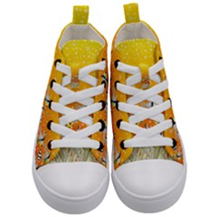 Fish Snow Coral Fairy Tale Kids  Mid Top Canvas Sneakers