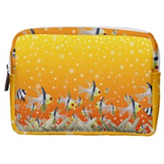 Fish Snow Coral Fairy Tale Make Up Pouch (medium)