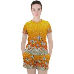Fish Snow Coral Fairy Tale Women s Tee And Shorts Set by HermanTelo