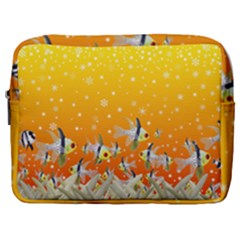 Fish Snow Coral Fairy Tale Make Up Pouch (large)
