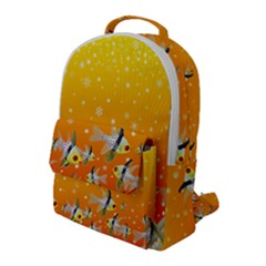 Fish Snow Coral Fairy Tale Flap Pocket Backpack (large) by HermanTelo