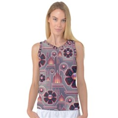 Floral Flower Stylised Women s Basketball Tank Top