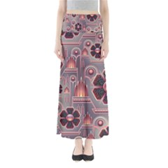Floral Flower Stylised Full Length Maxi Skirt by HermanTelo