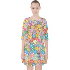 Floral Flowers Abstract Art Pocket Dress by HermanTelo