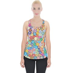 Floral Flowers Abstract Art Piece Up Tank Top