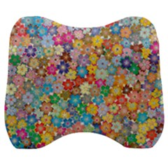 Floral Flowers Abstract Art Velour Head Support Cushion