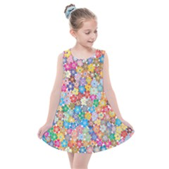 Floral Flowers Abstract Art Kids  Summer Dress by HermanTelo