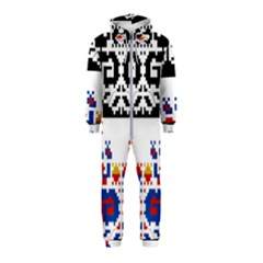 Folk Art Fabric Hooded Jumpsuit (kids)