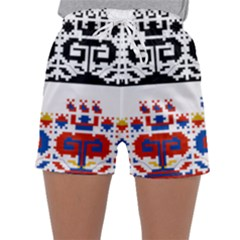 Folk Art Fabric Sleepwear Shorts