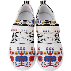 Folk Art Fabric Men s Velcro Strap Shoes by HermanTelo