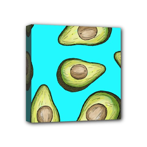 Fruite Avocado Mini Canvas 4  X 4  (stretched)