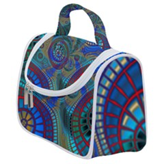 Fractal Abstract Line Wave Satchel Handbag