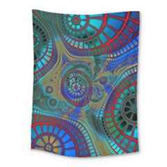 Fractal Abstract Line Wave Medium Tapestry by HermanTelo