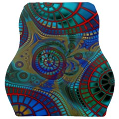 Fractal Abstract Line Wave Car Seat Velour Cushion