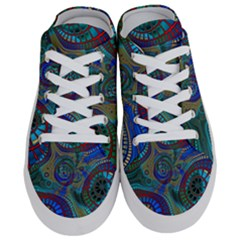 Fractal Abstract Line Wave Half Slippers