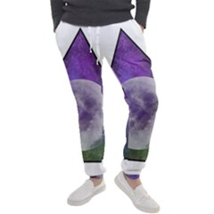Form Triangle Moon Space Men s Jogger Sweatpants by HermanTelo