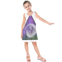 Form Triangle Moon Space Kids  Sleeveless Dress by HermanTelo
